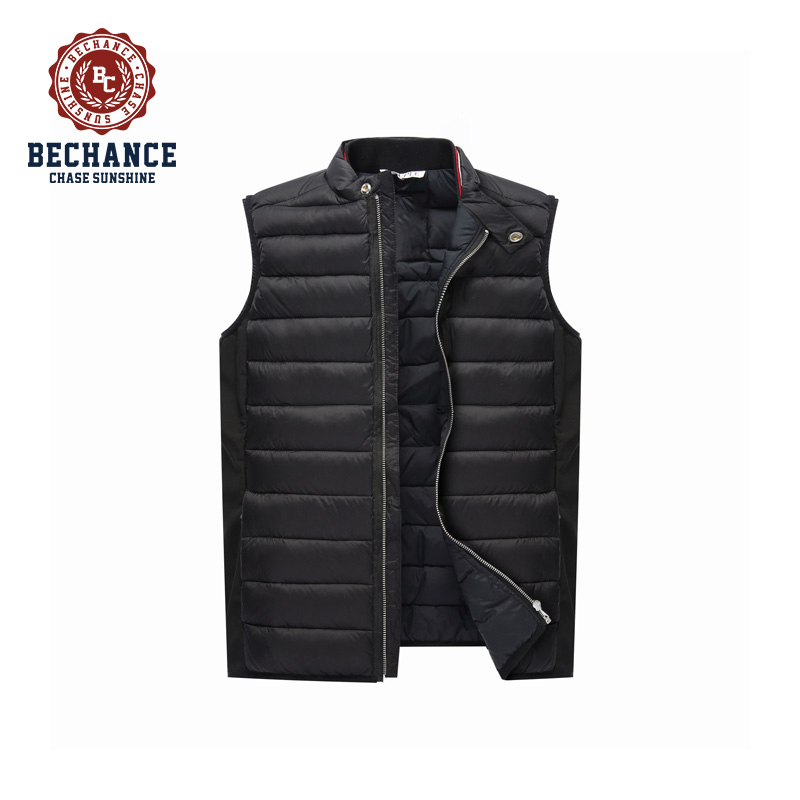 Fashion lightweight mens winter collar duck down vest