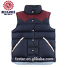 100%nylon Men Down Leather Vest Down Jacket for Winter
