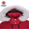 Hot Ladies Slim Style Padding Winter Parka with Fake Fur Outdoor Coat